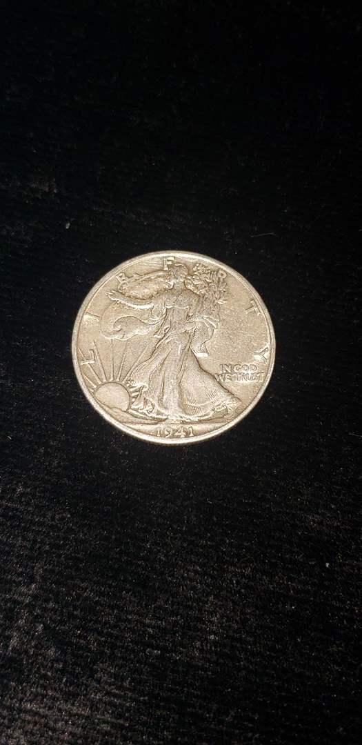 Lot # 369 1941-D Walking Liberty Half Dollar