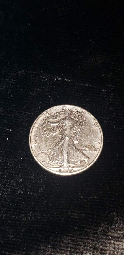 Lot # 370 1943 Walking Liberty Half Dollar