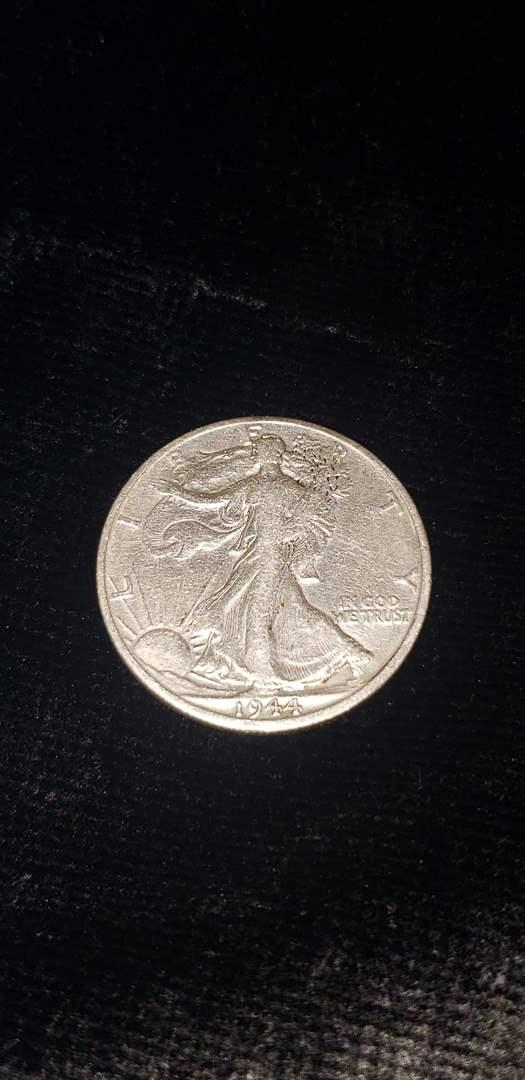 Lot # 371 1944-D Walking Liberty Silver Half Dollar