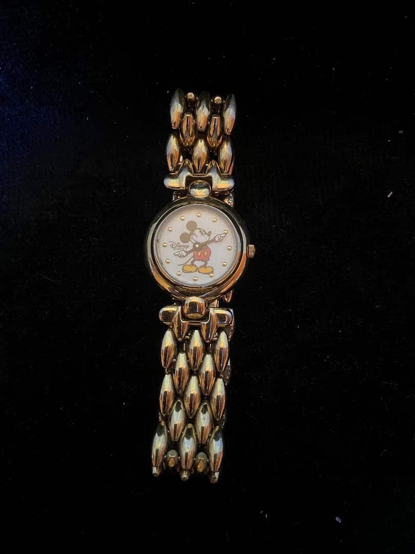 Lot # 382 Disney Time Works Mickey Watch