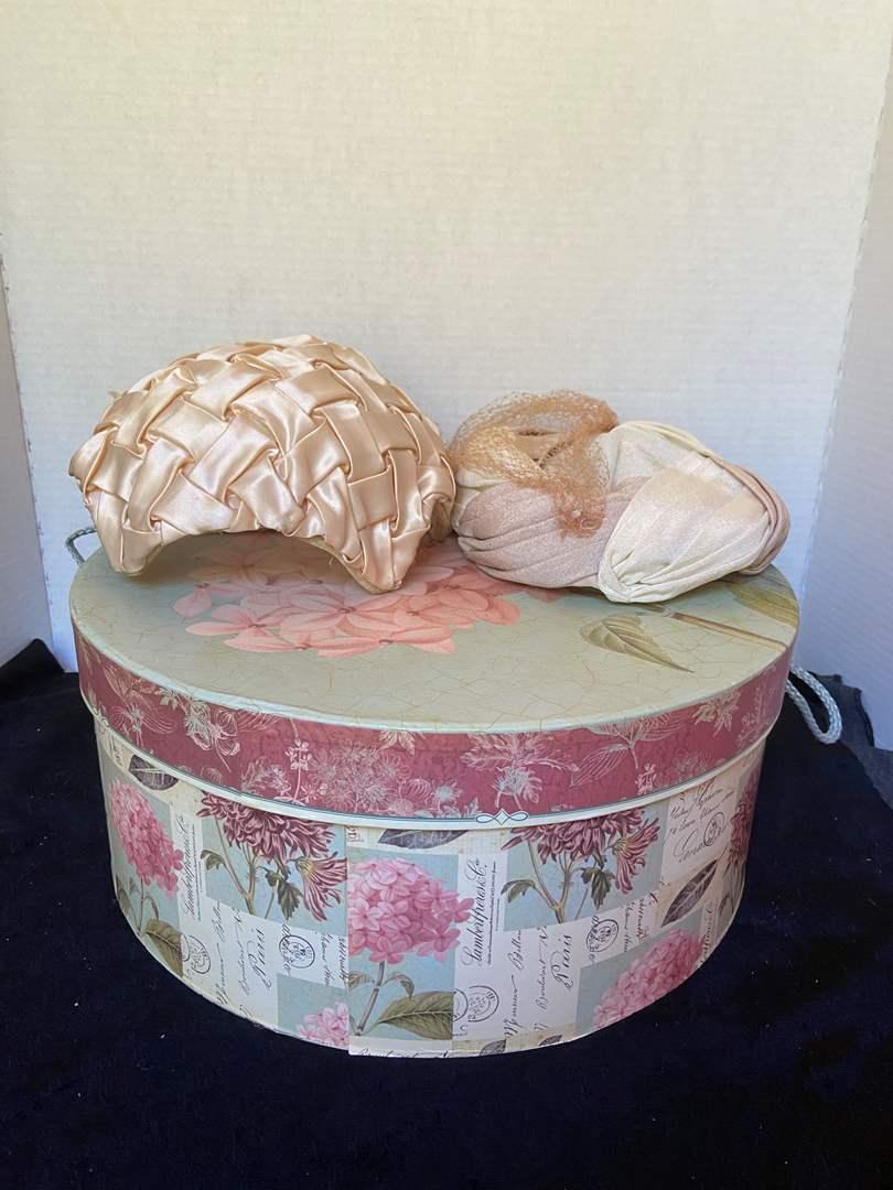 Lot # 383 Hat Box & Vtg Hats