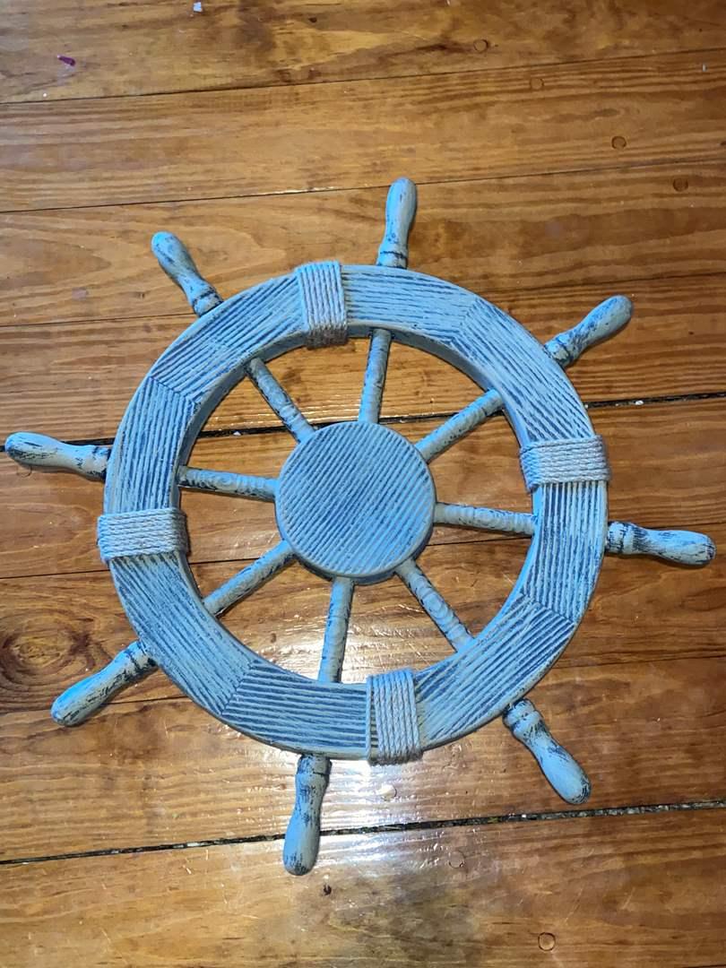 Lot # 395 Decorative Ship Wheel