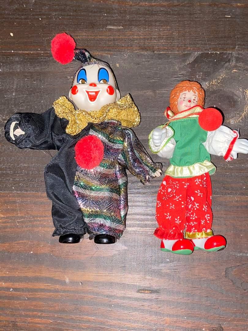 Lot # 404 Clown Figurines