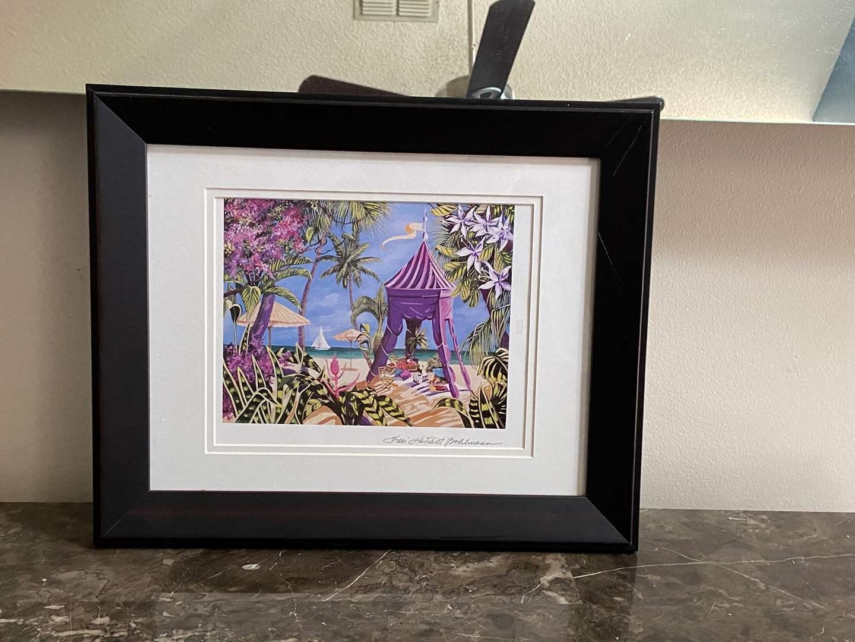 Lot # 414 Framed Fantasy Island Sharie Hatchett Bohlmann Signed Art Seriolithograph Print