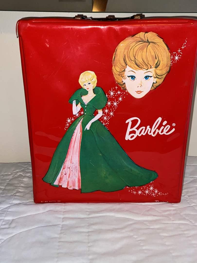 Lot # 458 Vtg 1963 Barbie Doll Carrying Case Vinyl PONYTAIL Mattel