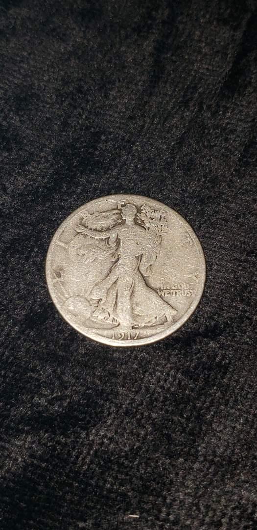 Lot # 469 1917 Walking Liberty Silver Half Dollar