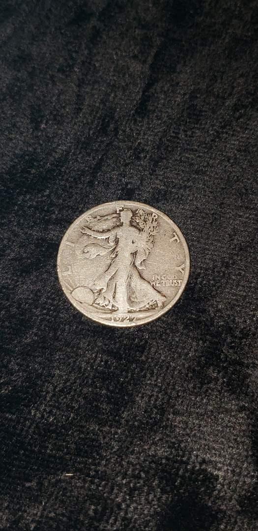 Lot # 470 1927-S Walking Liberty Silver Half Dollar