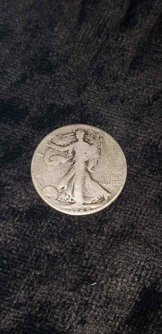 Lot # 472 1928-S Walking Liberty Silver Half Dollar