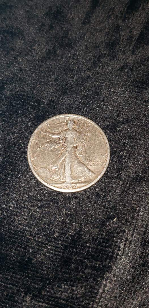 Lot # 473 1934 Walking Liberty Silver Half Dollar