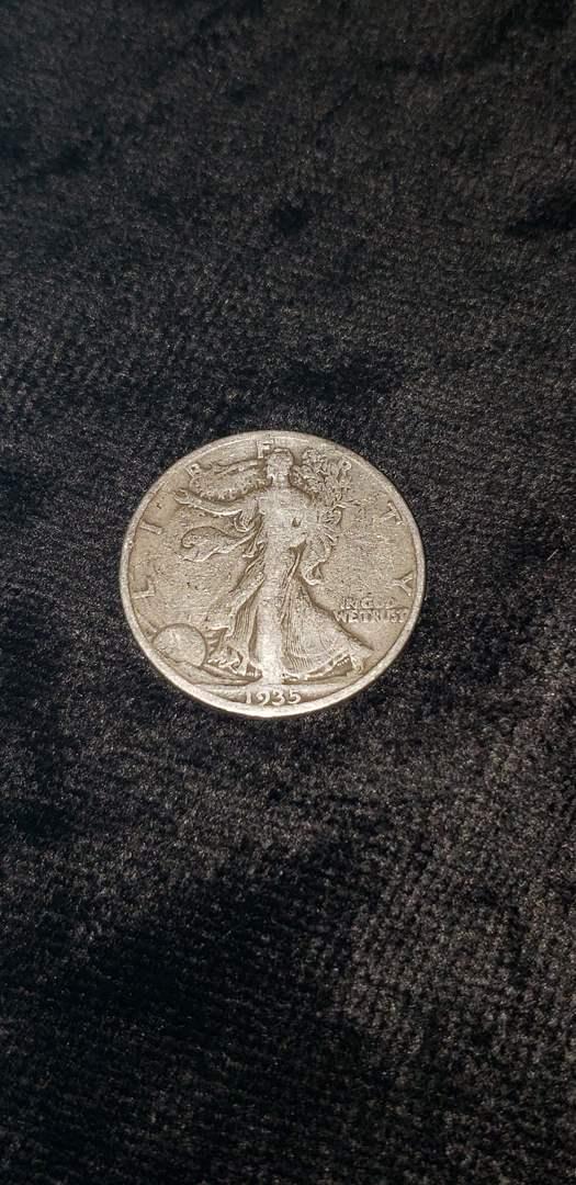 Lot # 474 1935 Walking Liberty Silver Half Dollar