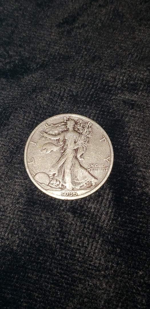 Lot # 475 1935-S Walking Liberty Silver Half Dollar