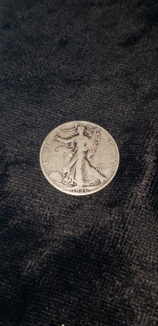Lot # 477 1936 Walking Liberty Silver Half Dollar