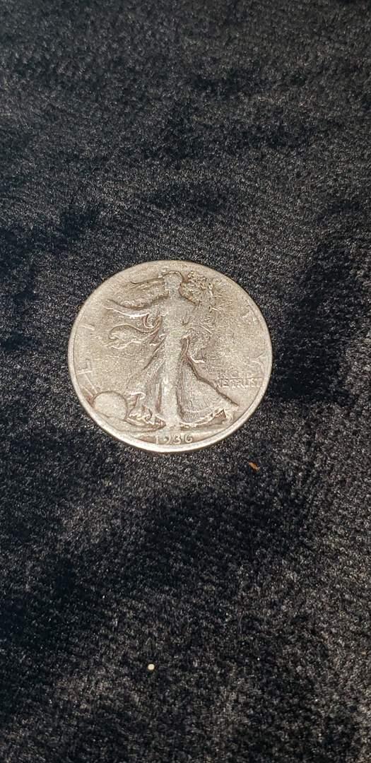 Lot # 478 1936-D Walking Liberty Silver Half Dollar