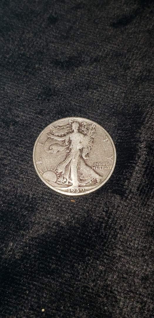 Lot # 479 1939 Walking Liberty Silver Half Dollar