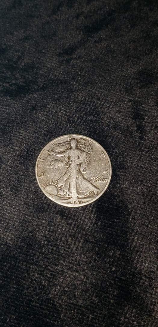 Lot # 480 1941-S Walking Liberty Silver Half Dollar