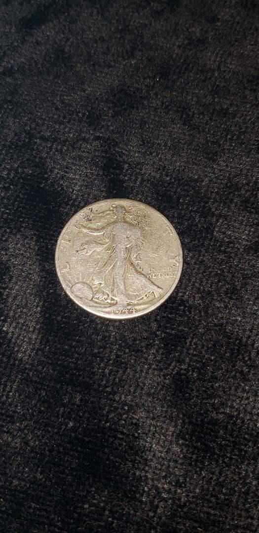 Lot # 481 1944 Walking Liberty Silver Half Dollar