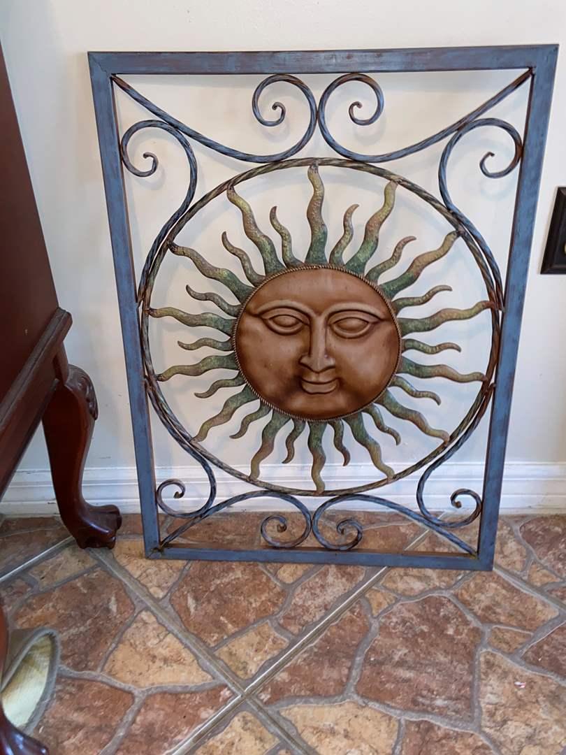 Lot # 484 Stunning Metal Sun Decor