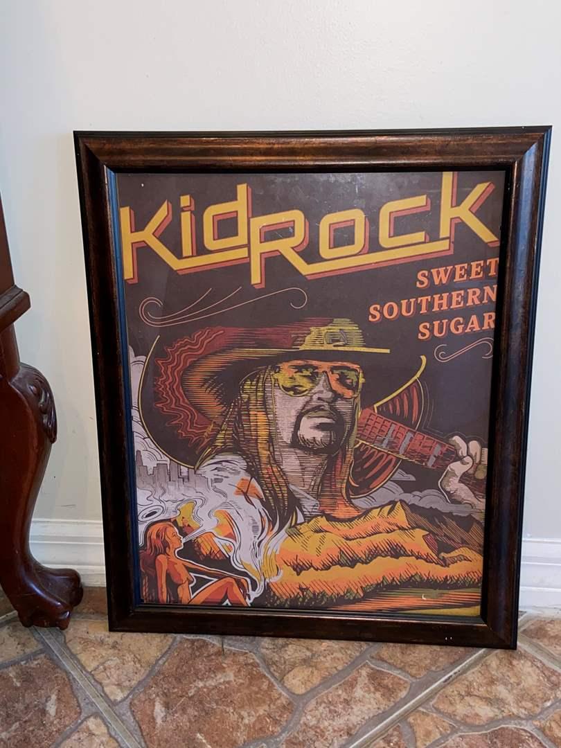 Lot # 485 Framed Kid Rock Artwork