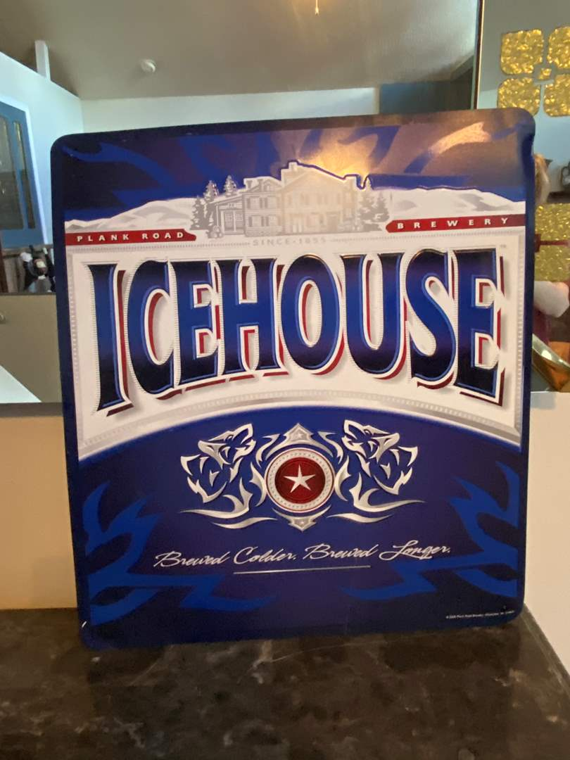 Lot # 488 Metal Icehouse Sign