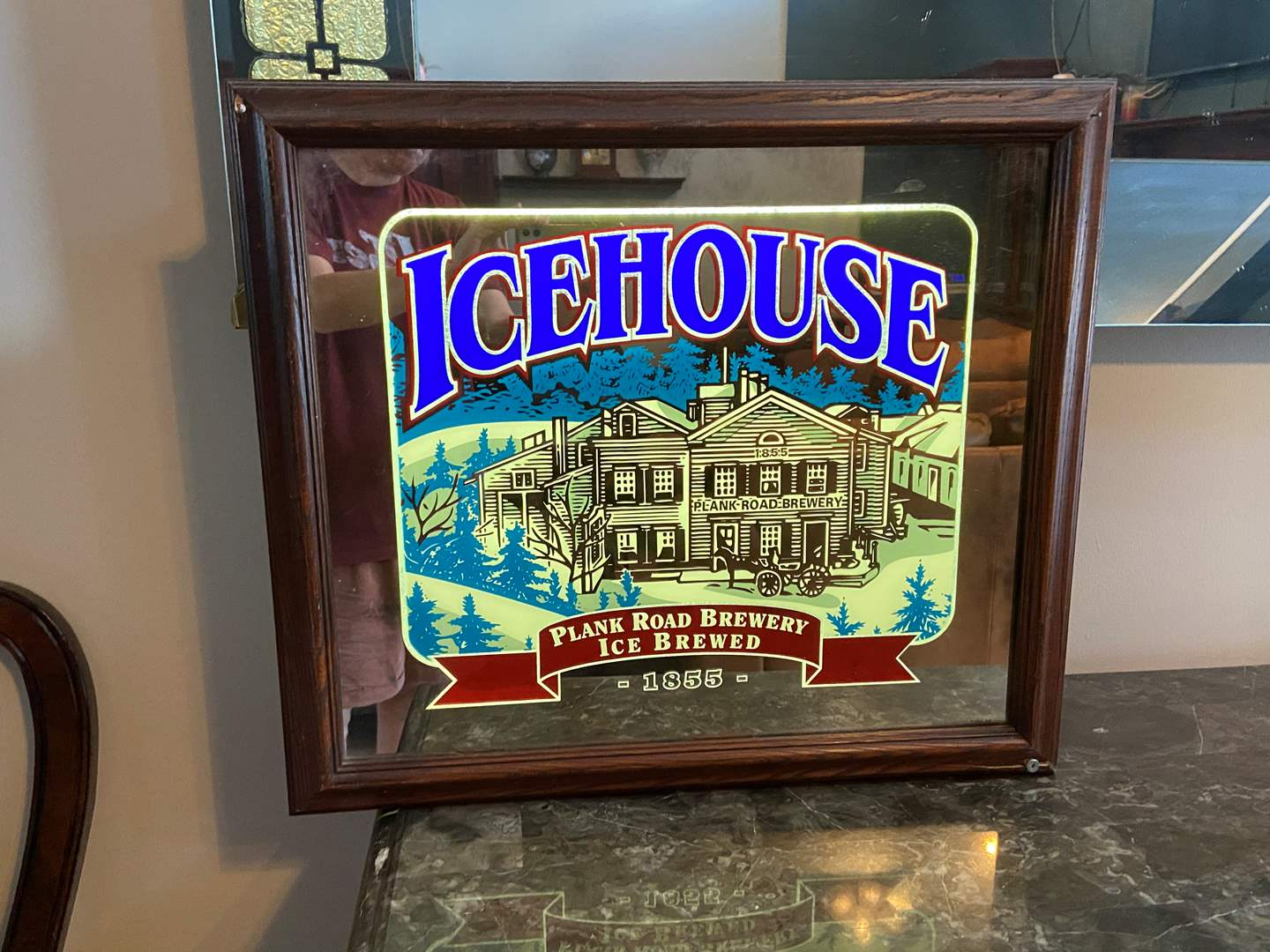 Lot # 491 Icehouse Plank Road Brewery Light Up Sign