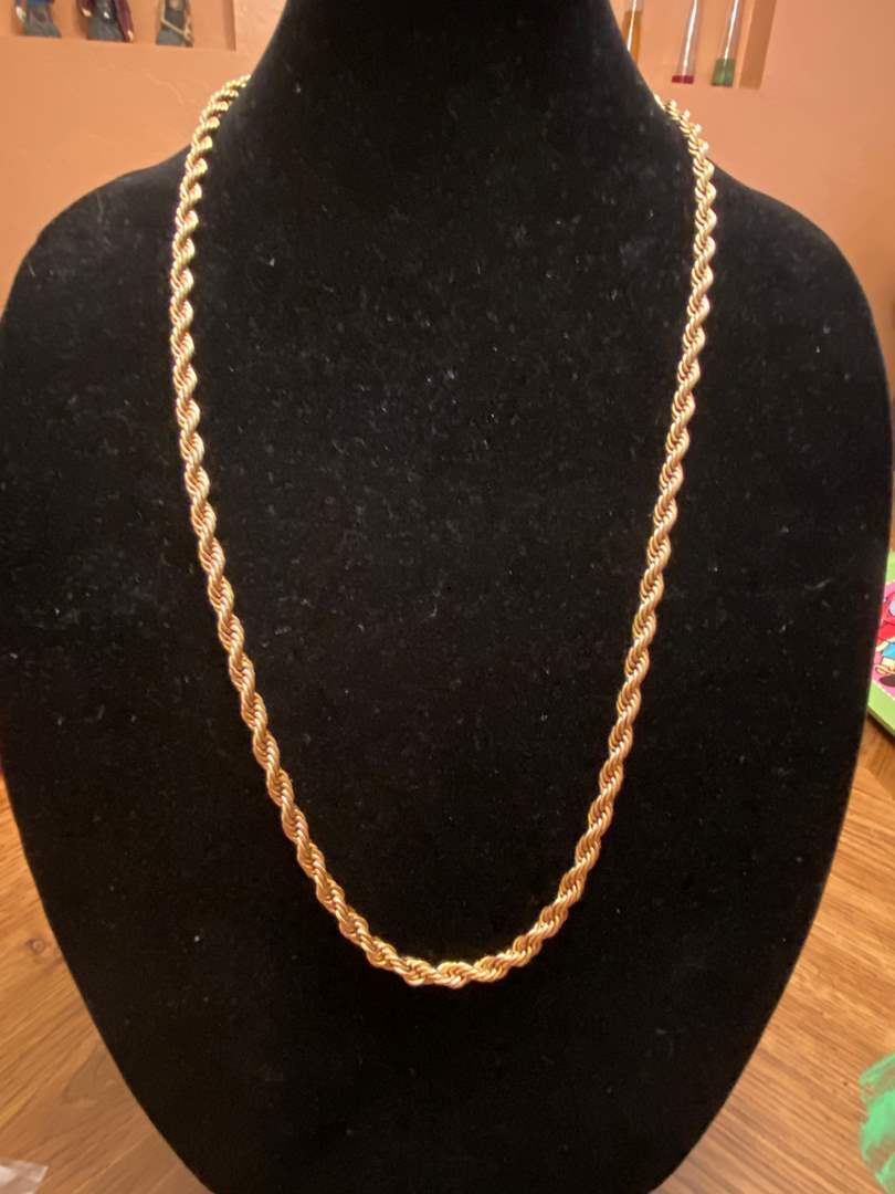 Lot # 504 18KGP Rope Chain