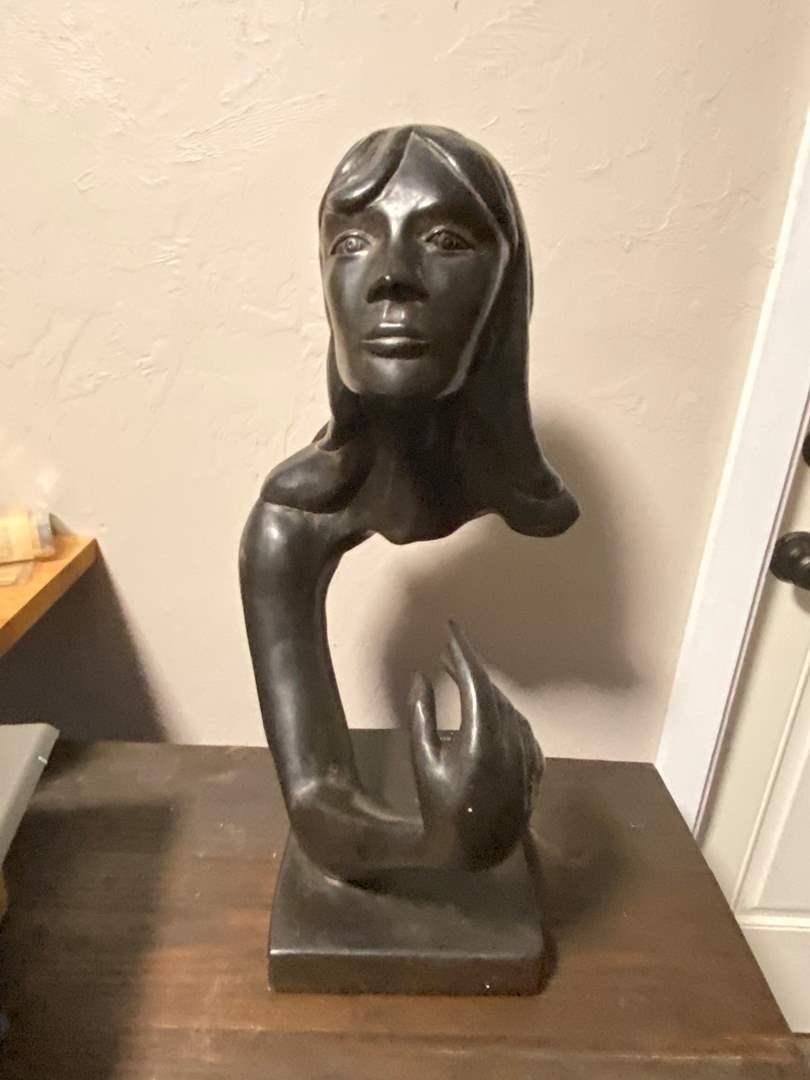 "Lot # 507 Truth Seeker Sculpture Signed Austin 23"""