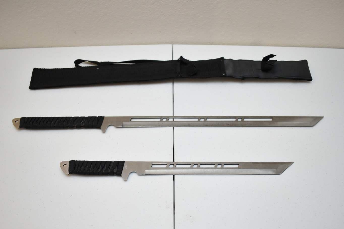 (2) Ninja Swords with Sheath