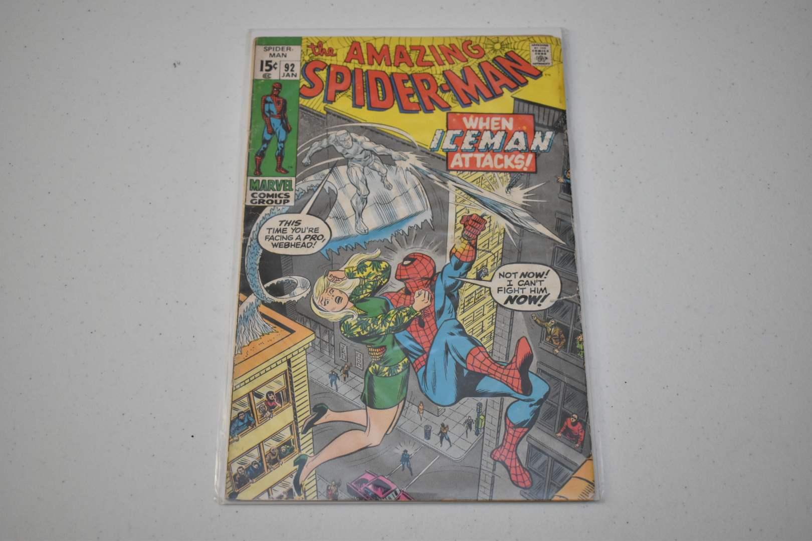 The Amazing Spiderman #92: When Iceman Attacks