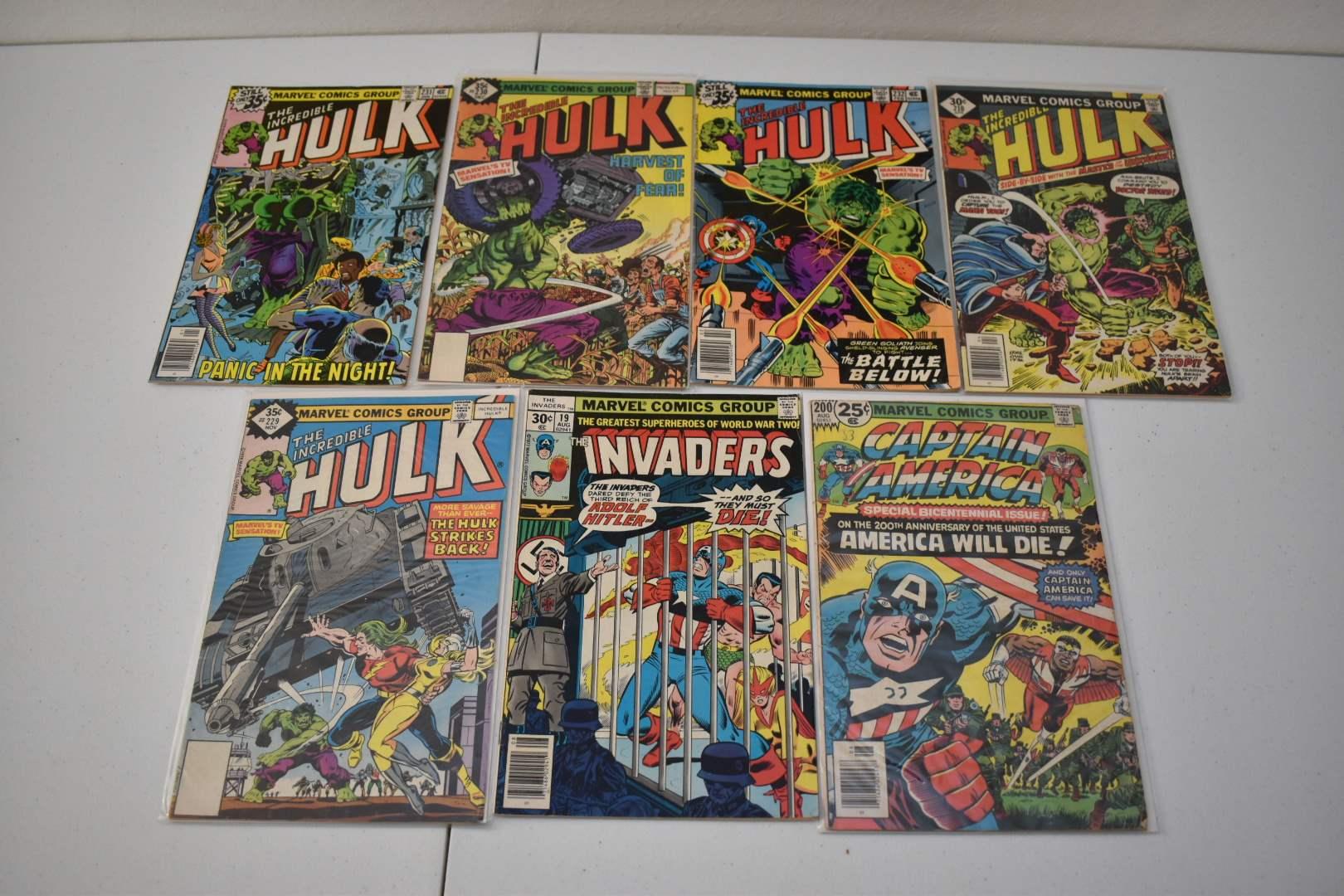 1970's Marvel Comics: Captain America VS Hitler, Hulk