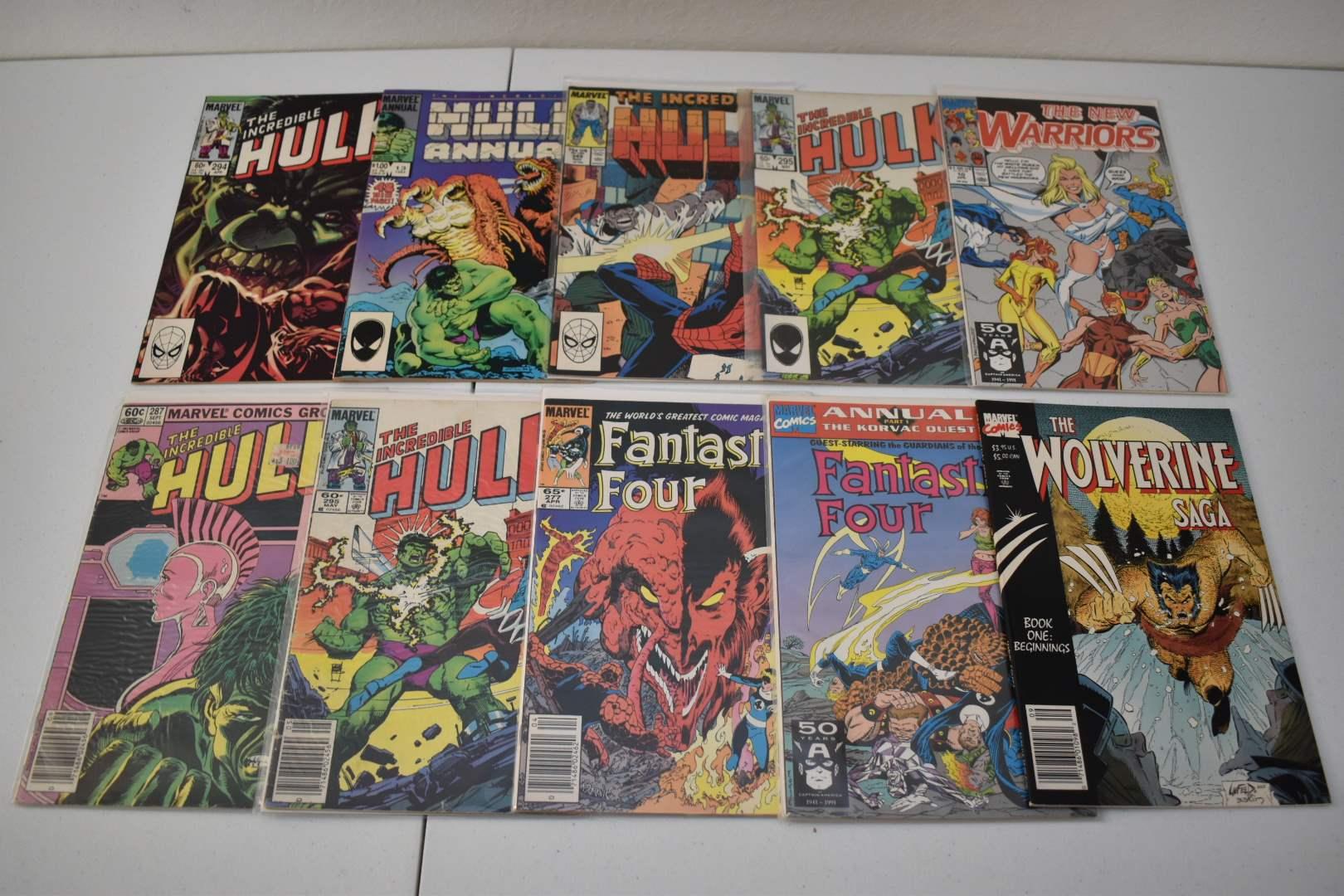 1980's & 90's Marvel Comics: Hulk, Fantastic Four, Wolverine