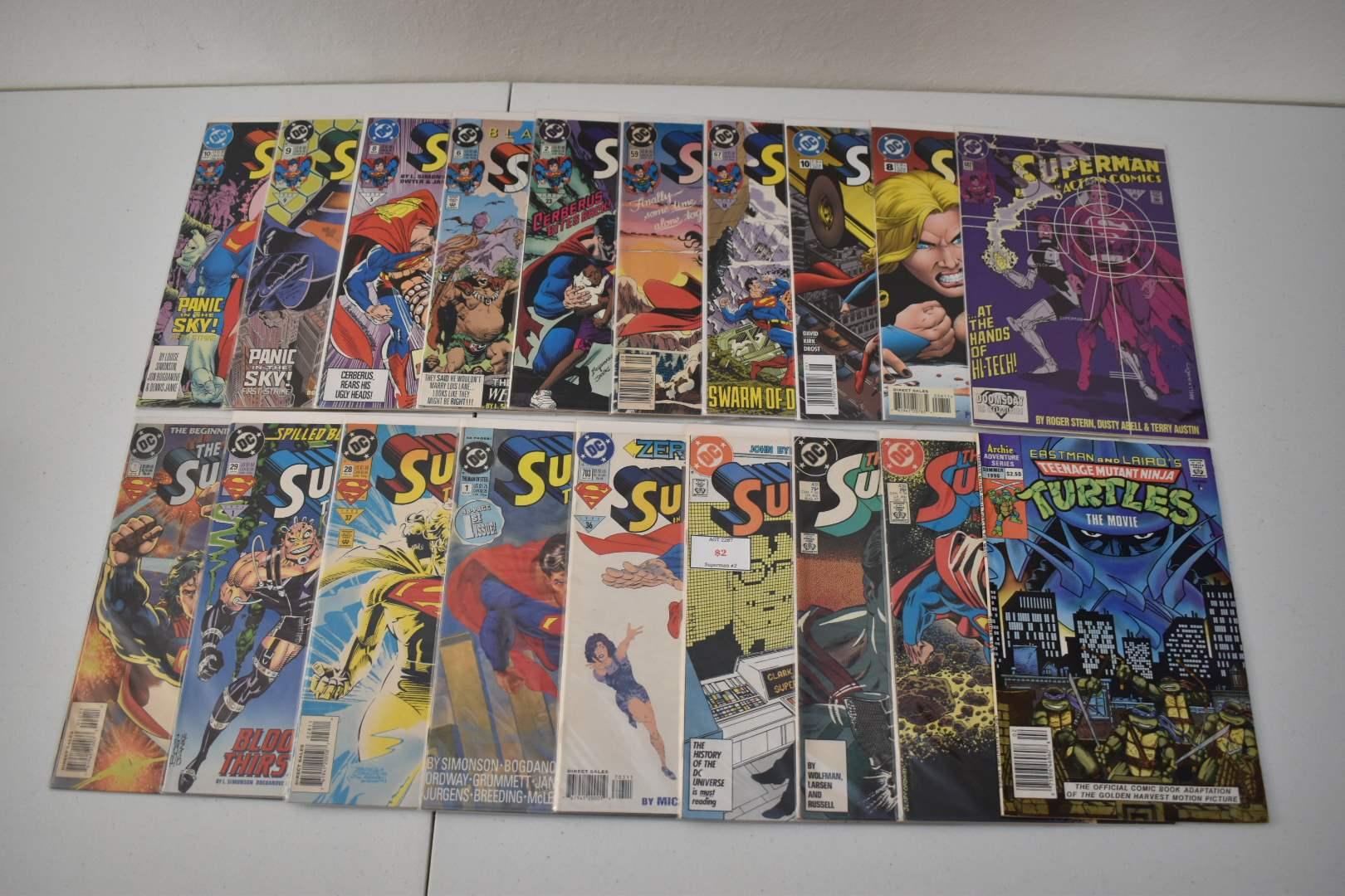 1990's Superman & TMNT Comics