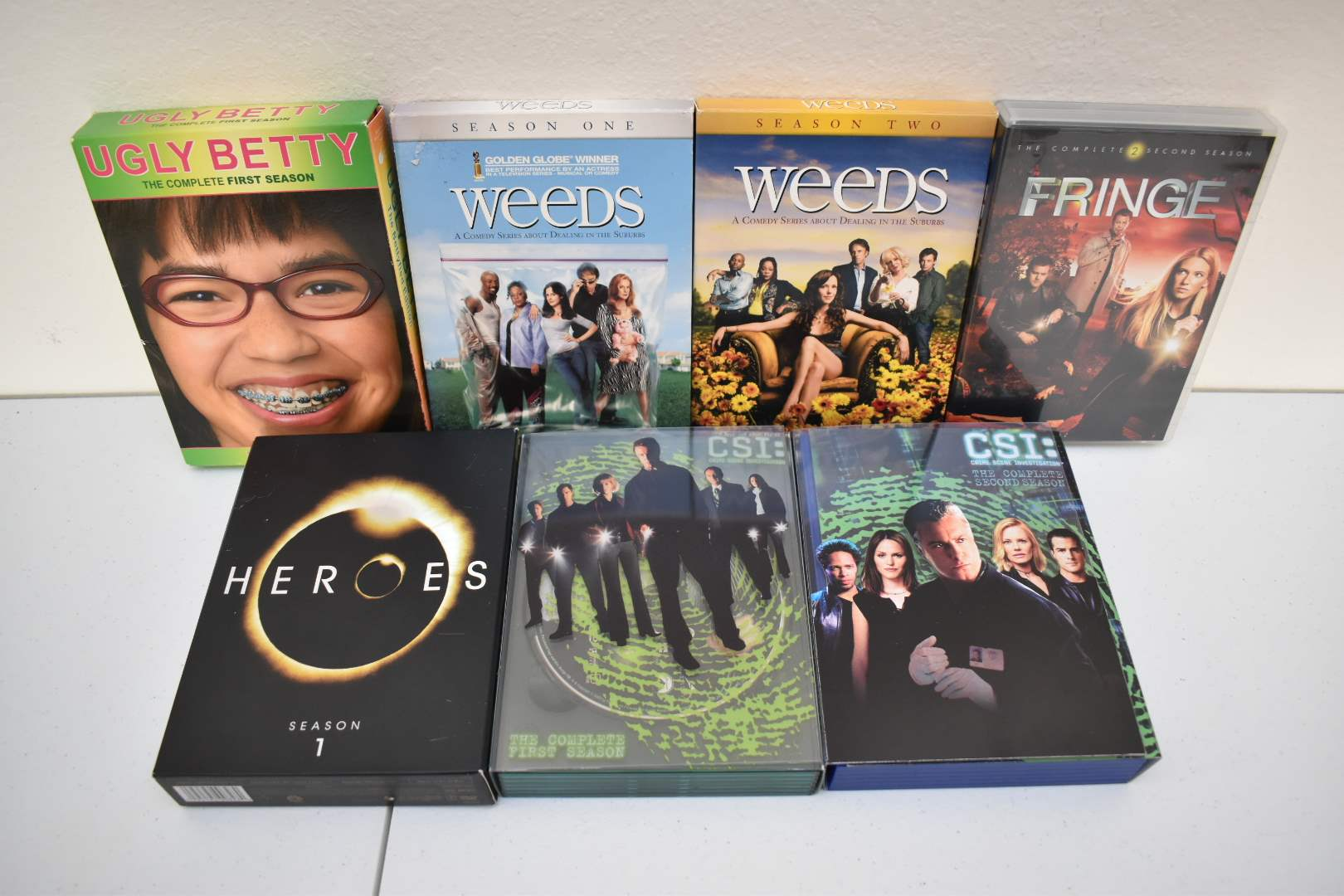 Complete Seasons of CSI, Weeds, Ugly Betty, Fringe