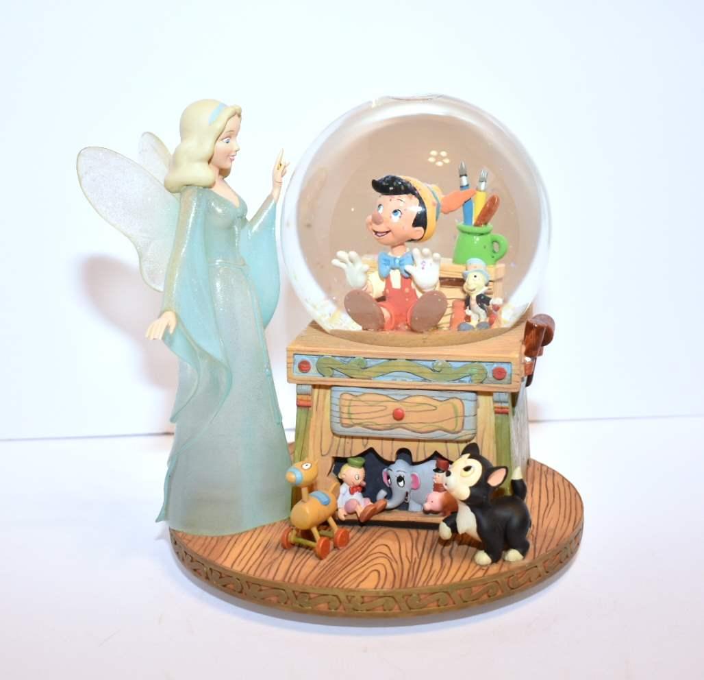 Pinocchio with Fairy Disney Snowglobe