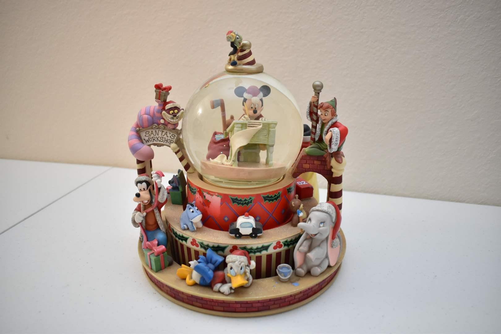 Mickey Mouse Santa's Workshop Disney Snowglobe