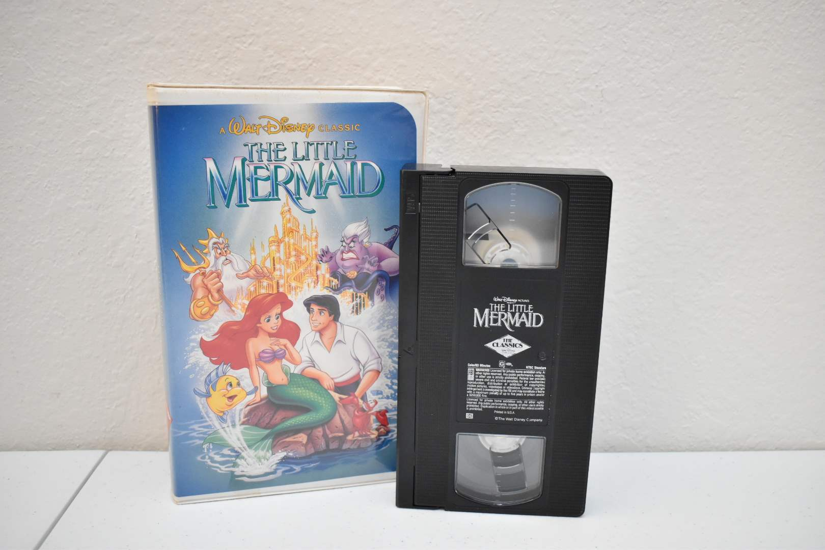 Little Mermaid VHS with BANNED Cover Art