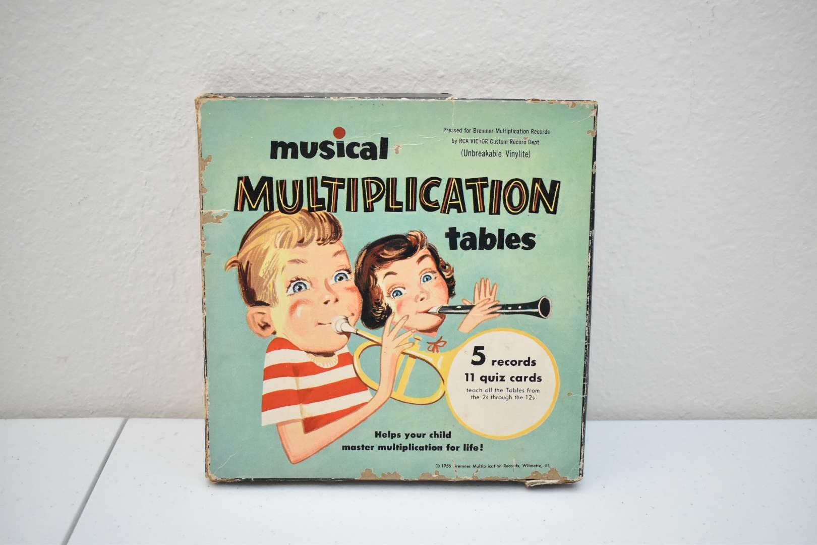 Vinyl from 1956: Musical Multiplication Tables
