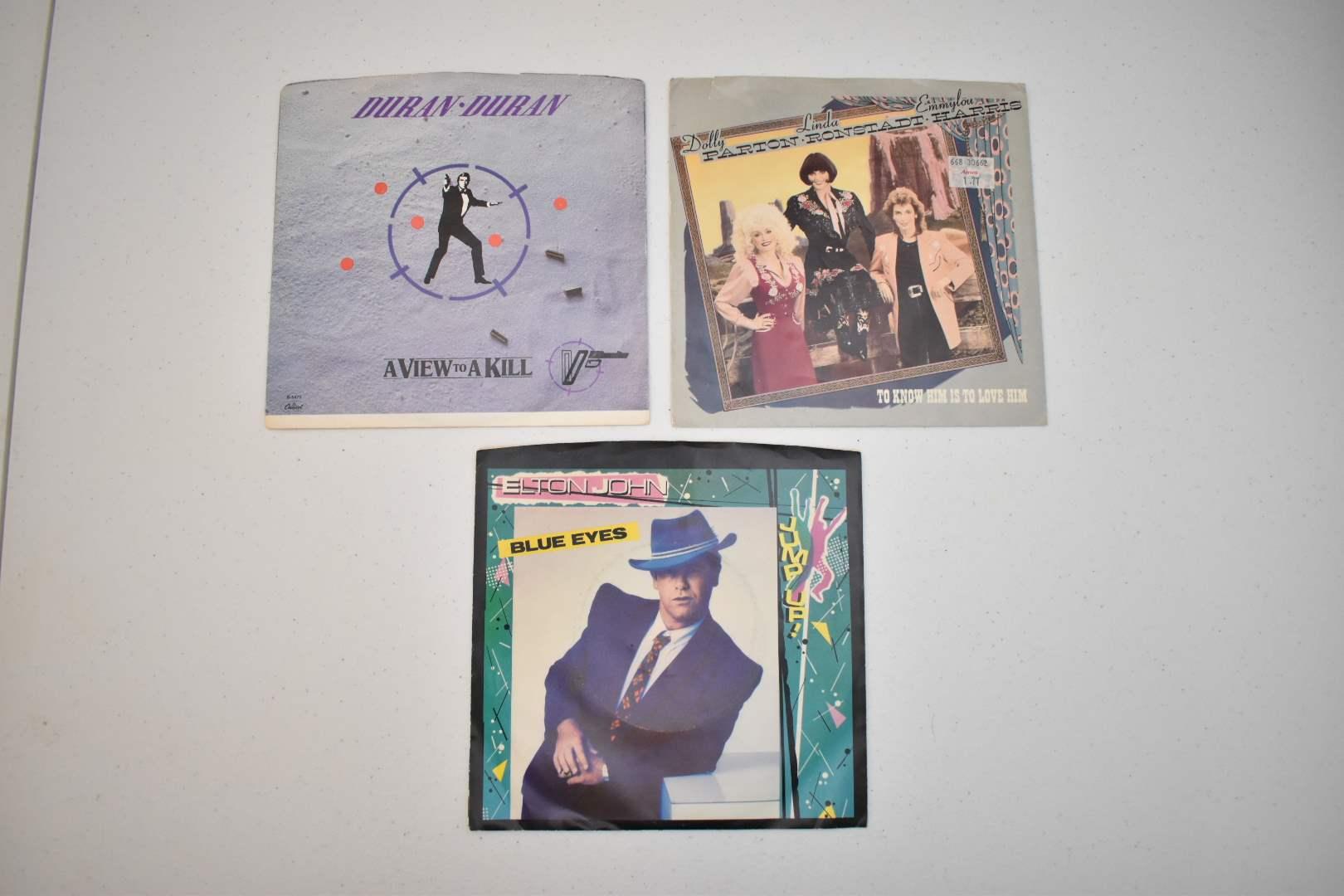 Vinyls: Elton John, Duran Duran, Dolly Parton