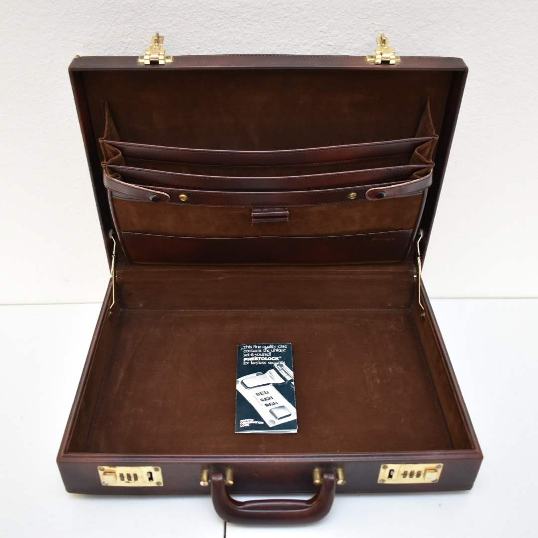 Vintage PrestoLock Briefcase with Working Combination Locks