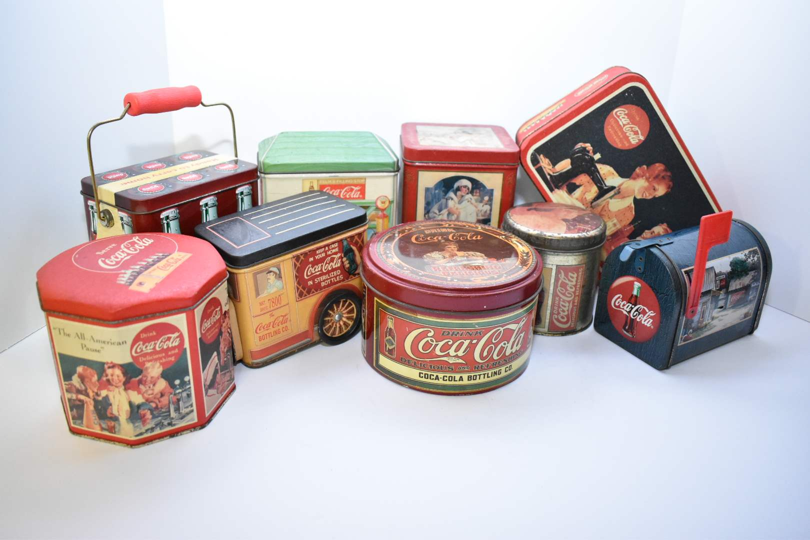 Vintage Coca-Cola Tins from 1980's-2000