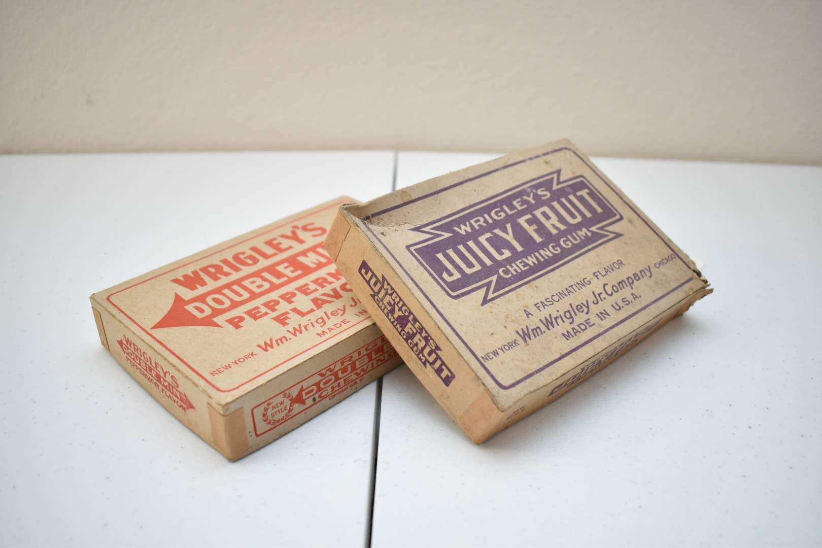 Antique Wrigley's Gum Boxes from 1931