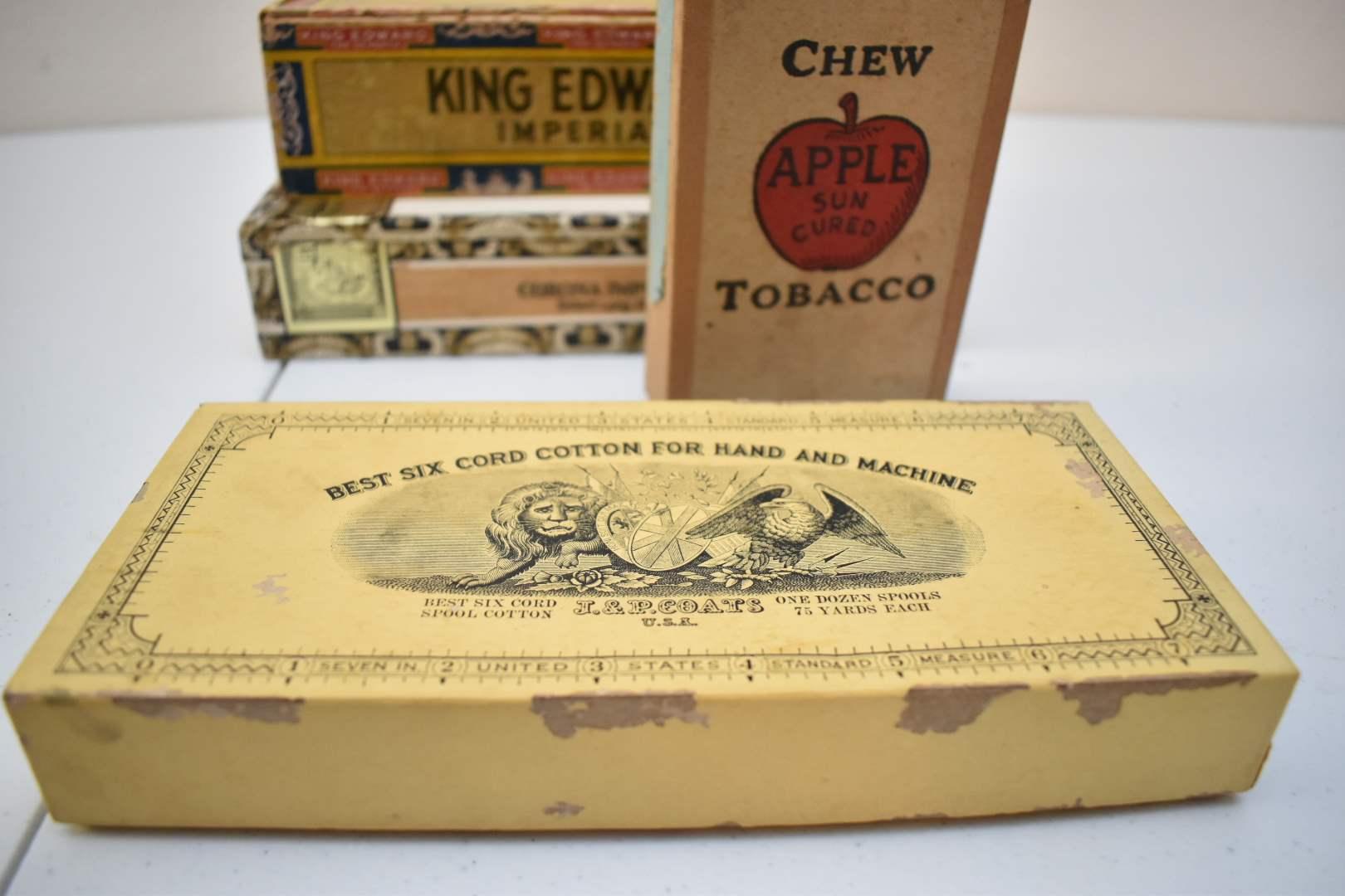 Antique Empty Cigar Boxes