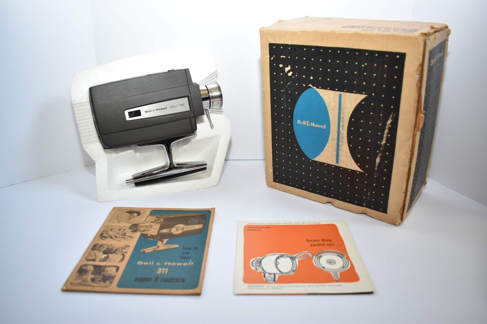 Bell & Howell 311 Super 8mm Camera with Original Box and Manuals