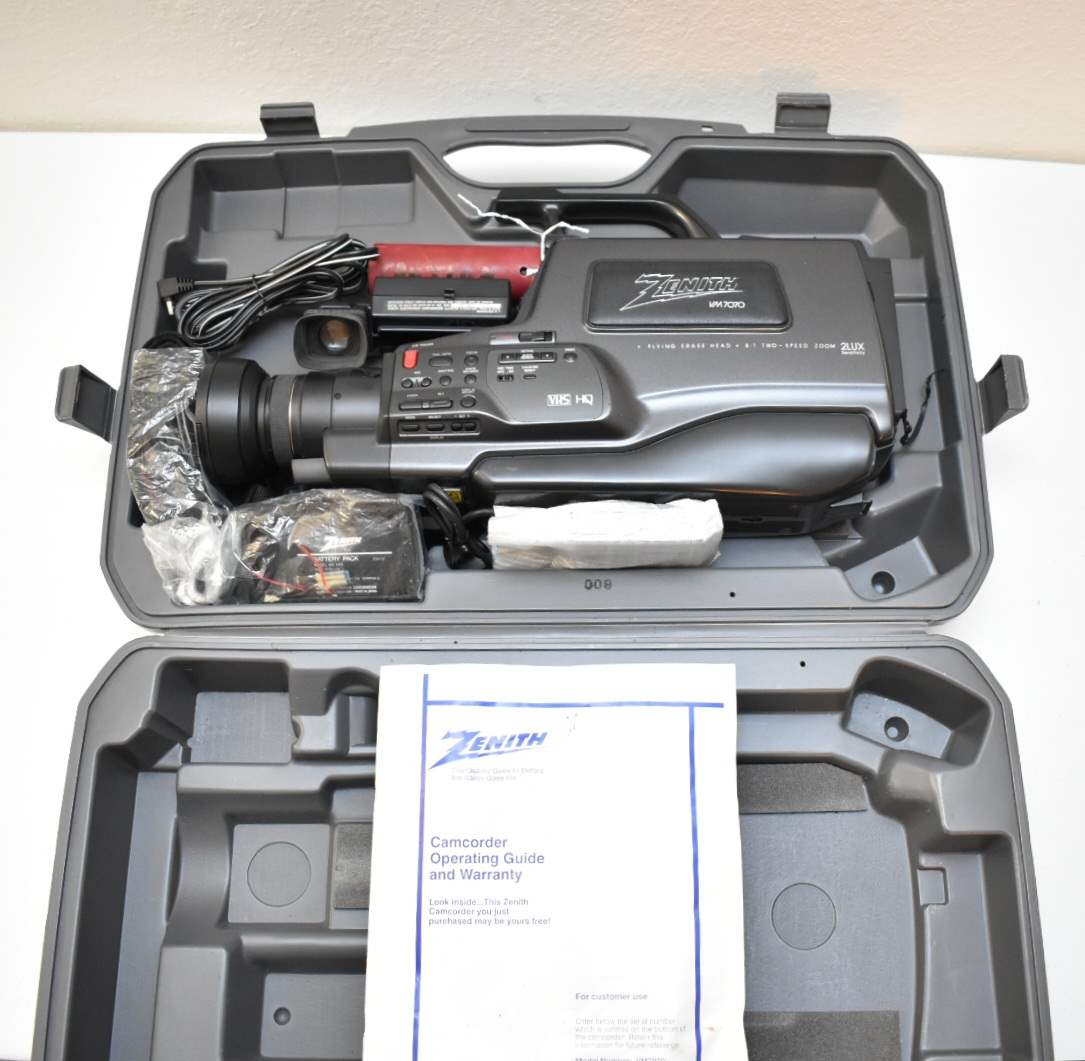 Zenith Video Camcorder with Case, Accessories, and Manual