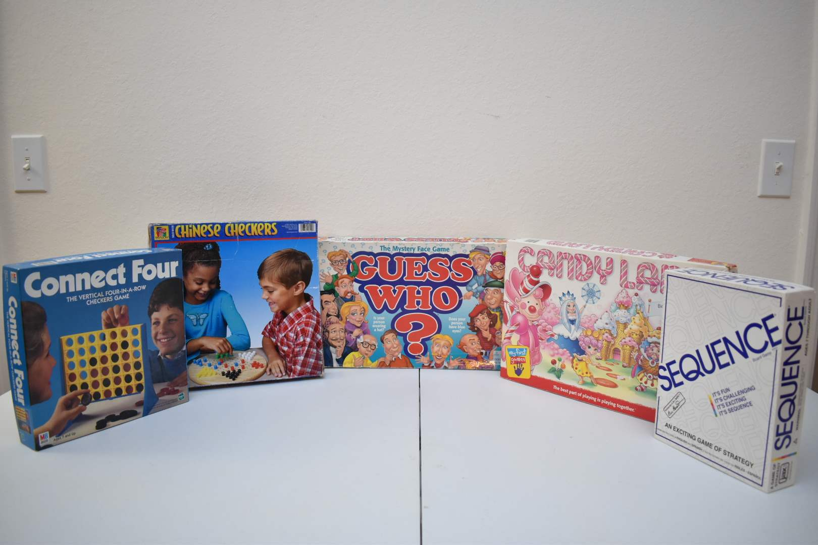 1990's Board Games: Candy Land, Guess Who, Sequence, Chinese Checkers, Connect Four