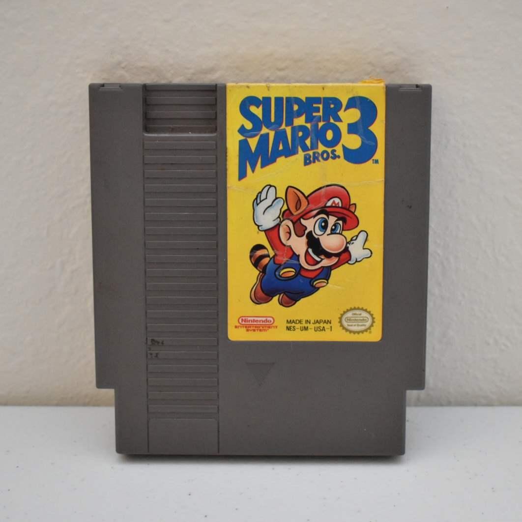 Vintage NES Game: Super Mario Bros 3