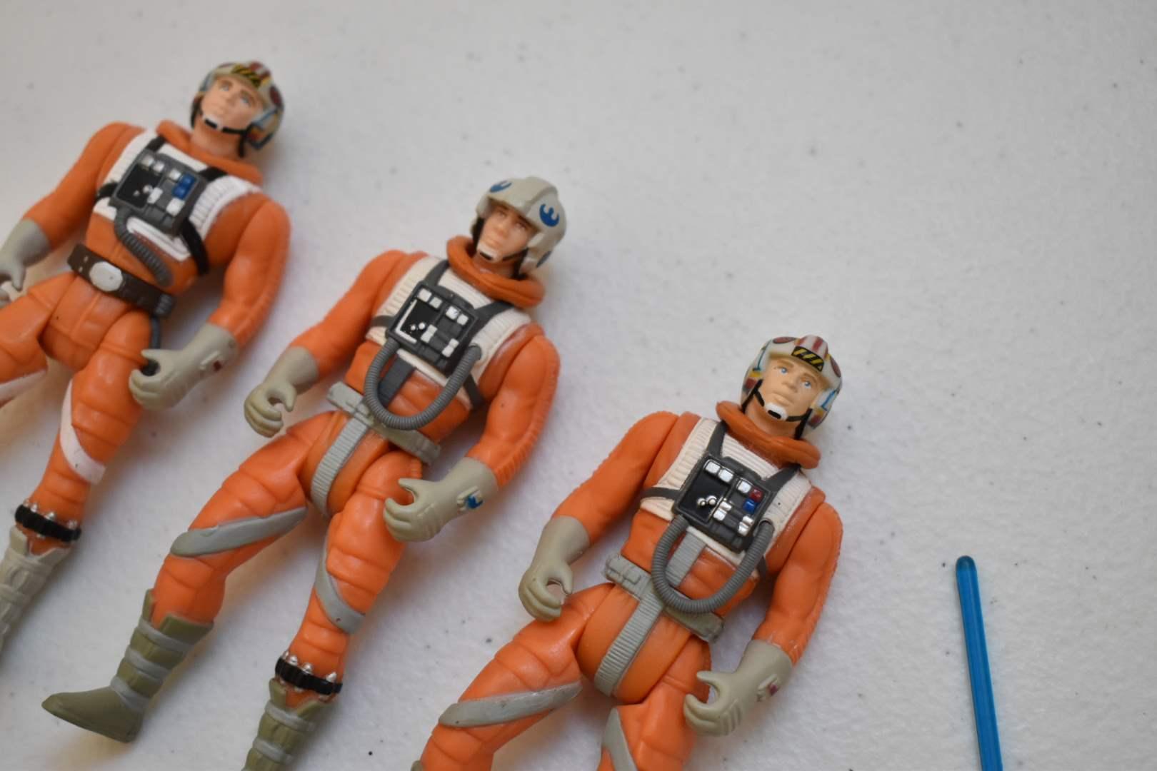 Vintage STAR WARS (2) Rebel Pilots & Luke Skywalker