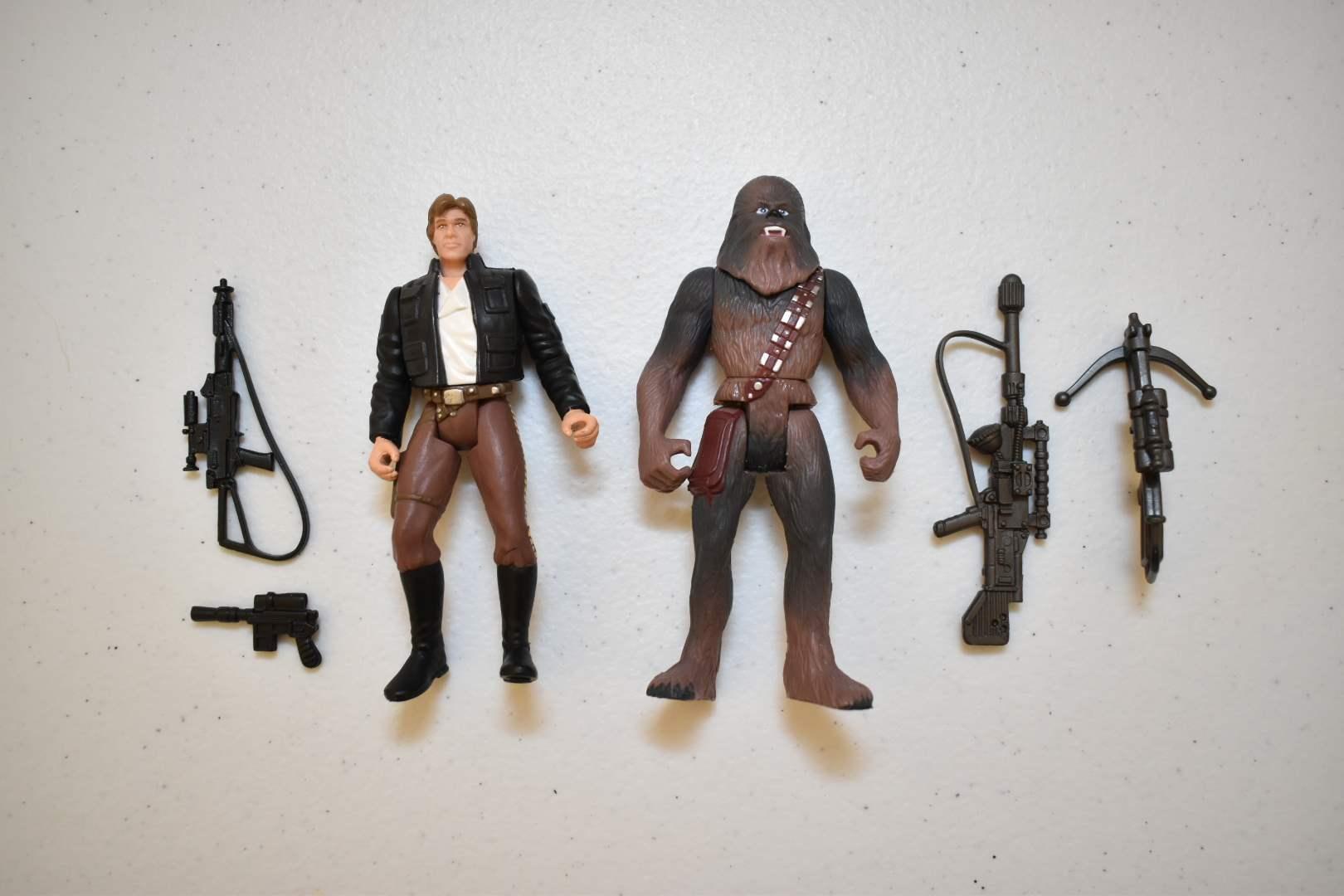 Vintage STAR WARS Han Solo & Chewbacca