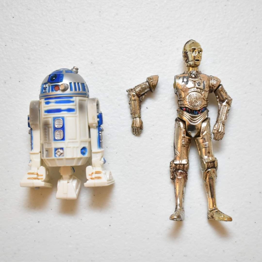 Vintage STAR WARS Battle Worn R2-D2 & C-3PO