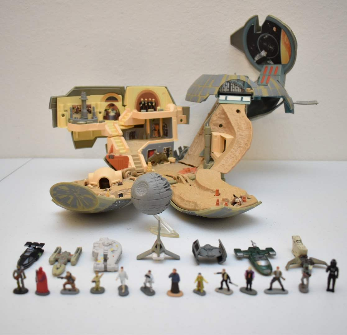 Vintage STAR WARS Death Star Micromachine with LOTS of Accessories