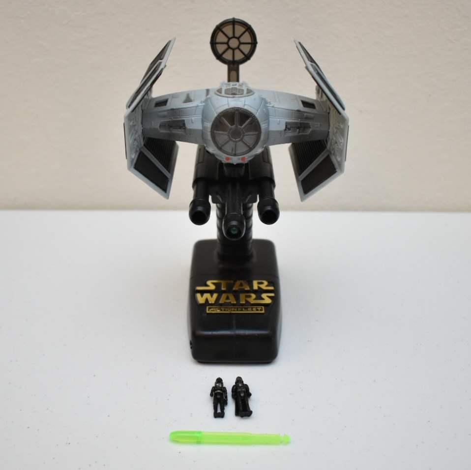 Vintage STAR WARS Darth Vader's Tie Fighter with Interactive Stand
